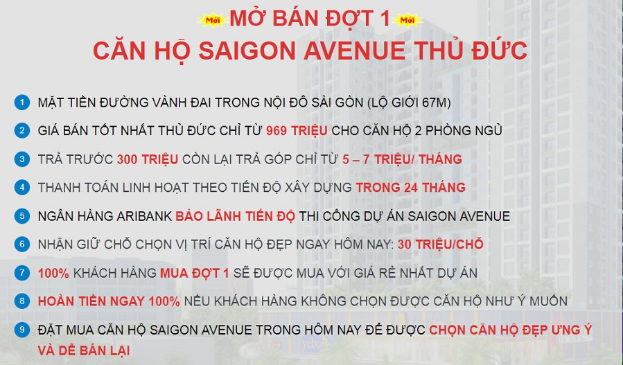 Mở bán Saigon Avenue