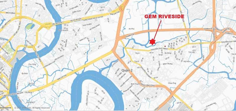 Vị trí google map Gem Riverside