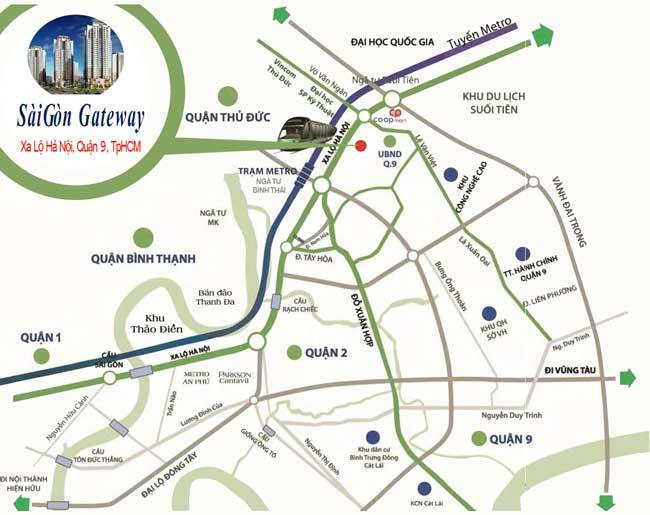 Vị trí Saigon Gateway