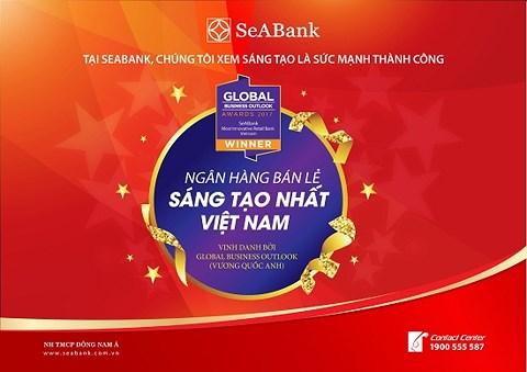 Ngân hàng Sea Bank đạt giải ngân hàng sáng tạo