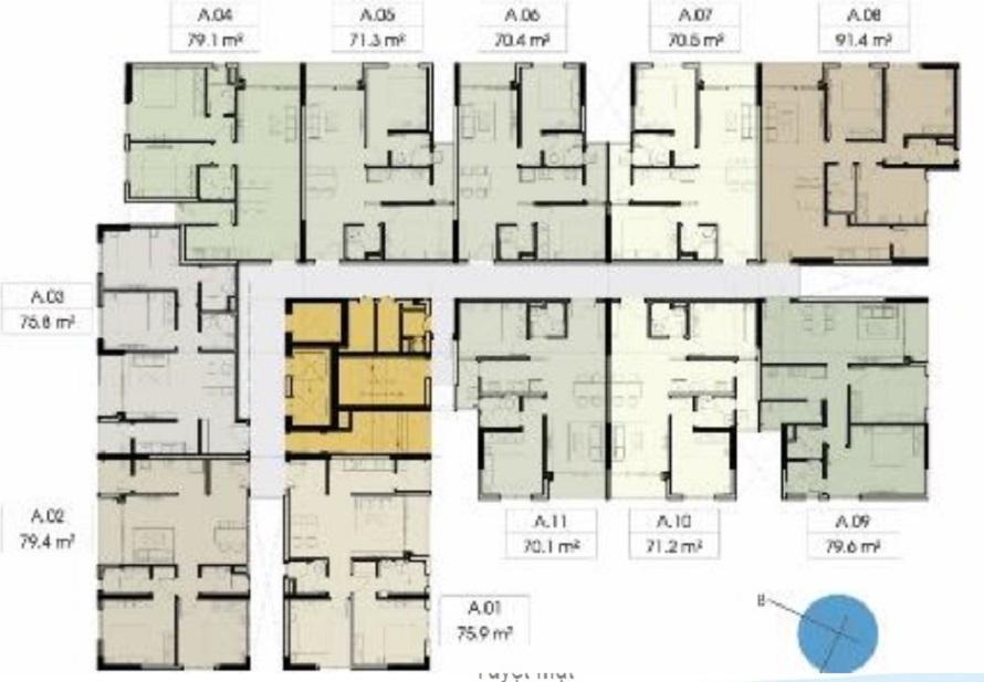 Mặt bằng căn hộ Opalskyview