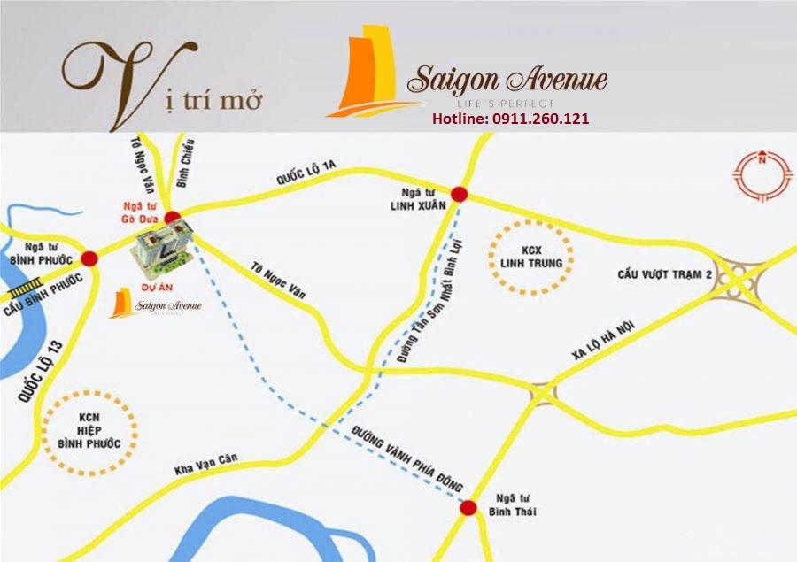 Vị trí Sài Gòn Avenue