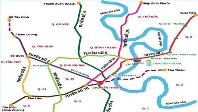 Các tuyến metro sai gòn